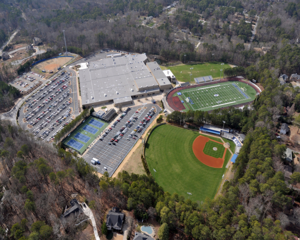 Pope High School Aerial | Cooper & Company General Contractors