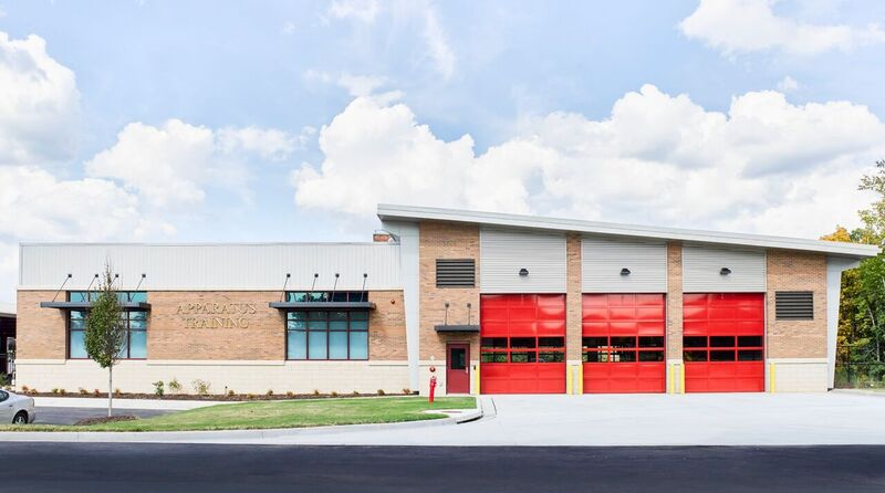 Exterior Apparatus Building #3 | Gwinnett Fire Training Academy | Cooper & Company General Contractors