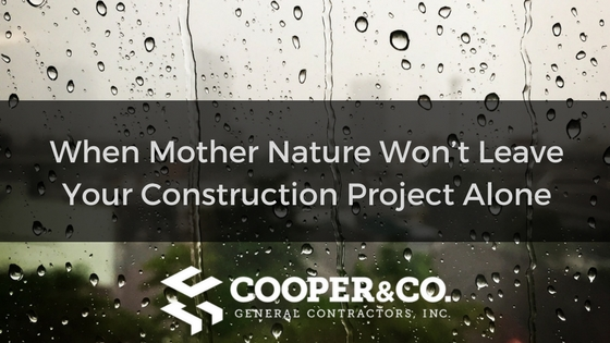 What To Do When Mother Nature Won't Leave Your Construction Project Alone | Cooper and Company General Contractors | Atlanta, GA