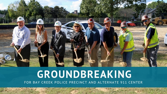 Successful Groundbreaking for Bay Creek Police Precinct