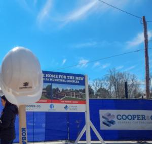 Groundbreaking Hard Hats at City of Cornelia | Cooper & Company General Contractors