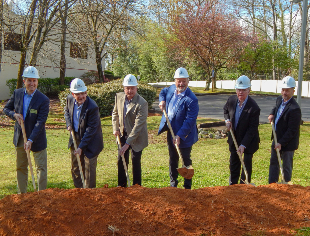 Jim Cooper with Company Directors for The Coop Group Groundbreaking in Tucker, GA | Cooper & Company General Contractors, Inc