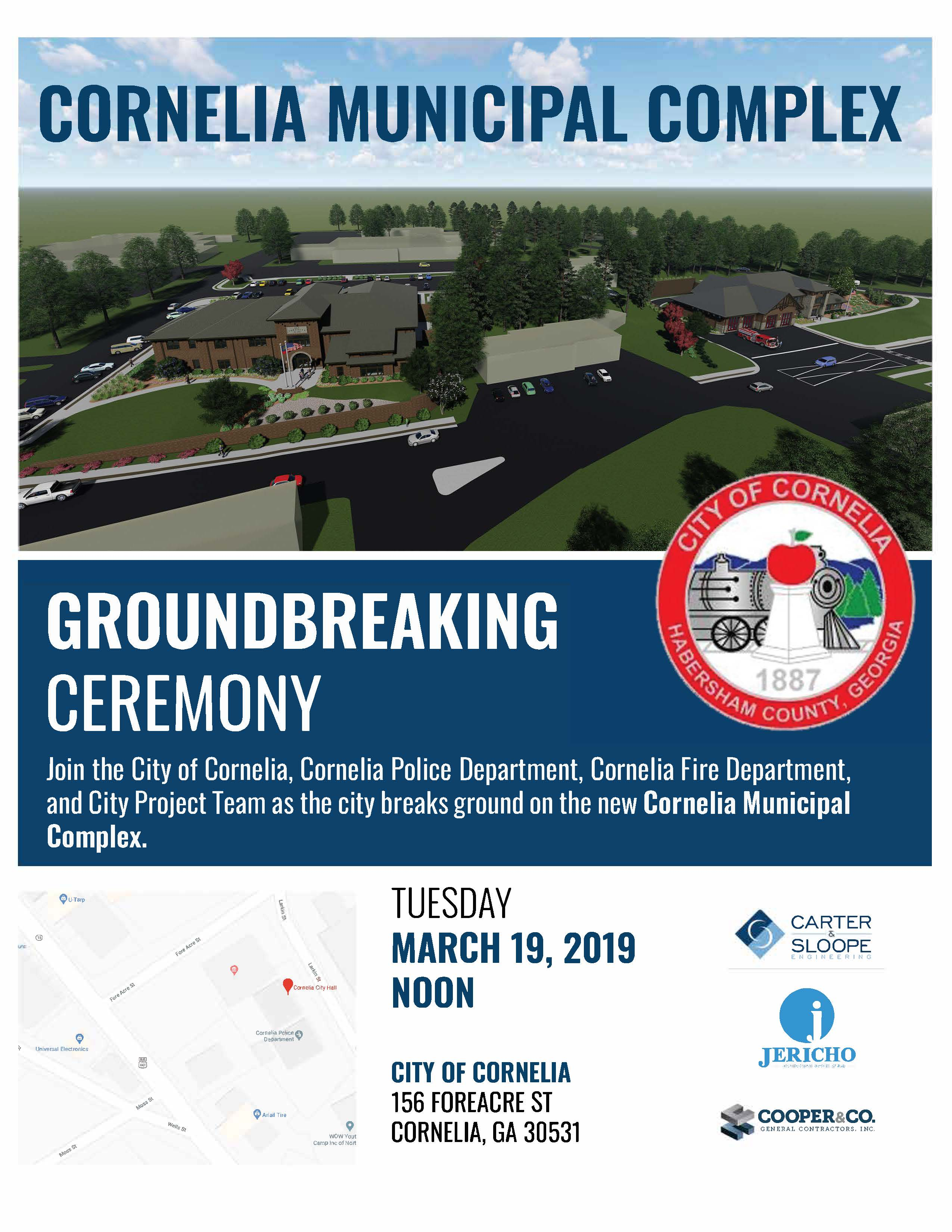 Ground Breaking Flyer | City of Cornelia