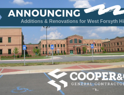Cooper annouces award for 2019 West Forsyth High School Additions and Renovations