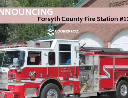 Cooper Awarded Construction of Forsyth County Fire Station #11